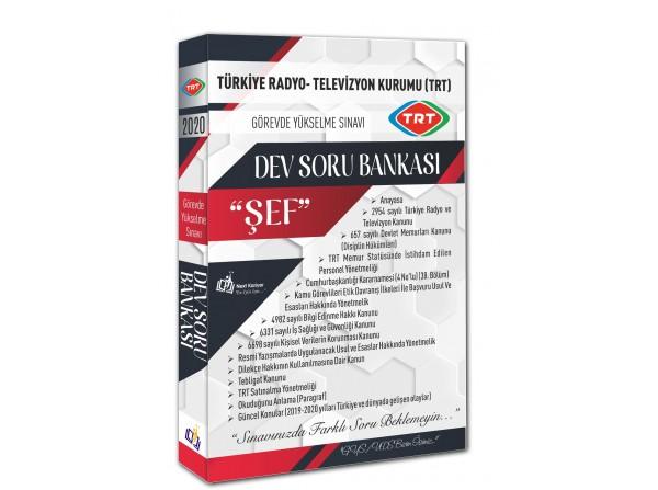 """2020 Türkiye Radyo - Televizyon Kurumu (TRT) Görevde Yükselme Sınavı """"ŞEF""""  Dev Soru Bankası"""
